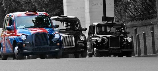 londyńskie taksówki