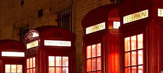 Budki telefoniczne w Londynie